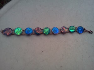 the finished bracelet