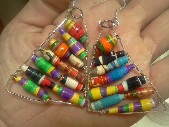 paper bead earring 5